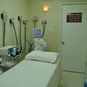 One of the patient rooms at Jimenez Chiropractic Med-Spa in Miami, FL