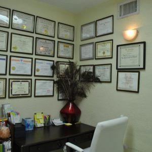 The office of one of the doctors at Jimenez Chiropractic Med-Spa in Miami, FL